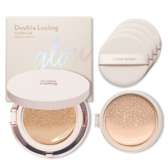 [SET] Double Lasting Cushion Glow 15g x 2 + Puff 4pcs