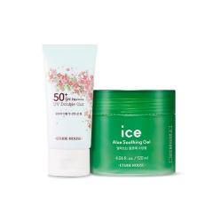 [SET] Heart Blossom Sun Gel + Ice Aloe Soothing Gel