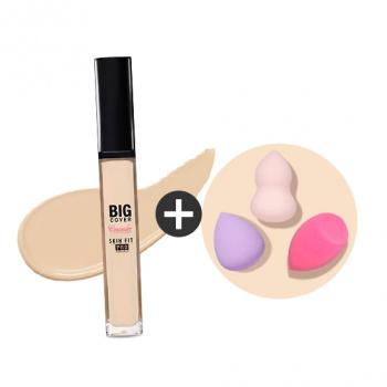[SET] Big Cover Skin Fit Concealer PRO + Mini blender kit PRO