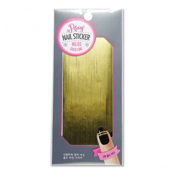 Play Nail Sticker #2 Gold Line