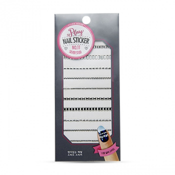 Play Nail Sticker #11 Silver Stud