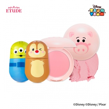 [SET] TSUM TSUM Jelly Mousse Tint (RD302, OR201)  + Blusher (PK002)