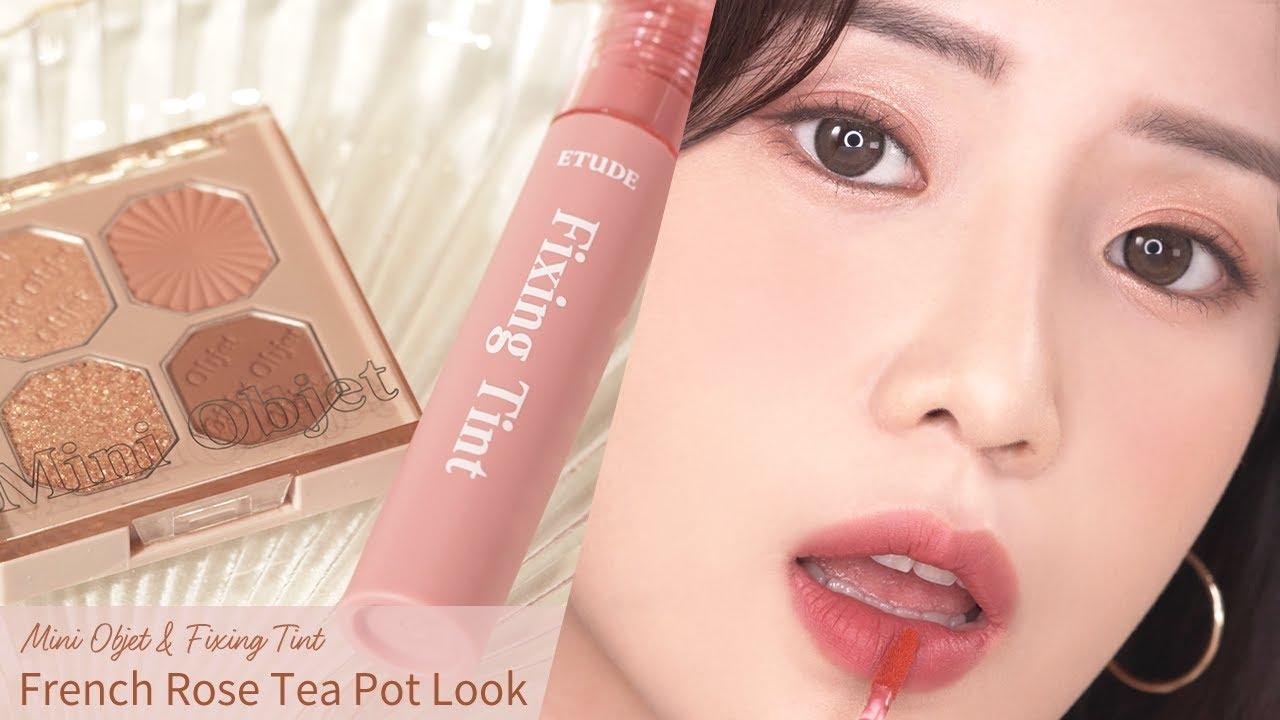 French Rose Tea Pot Makeup Look with Mini Objet x Fixing Tint