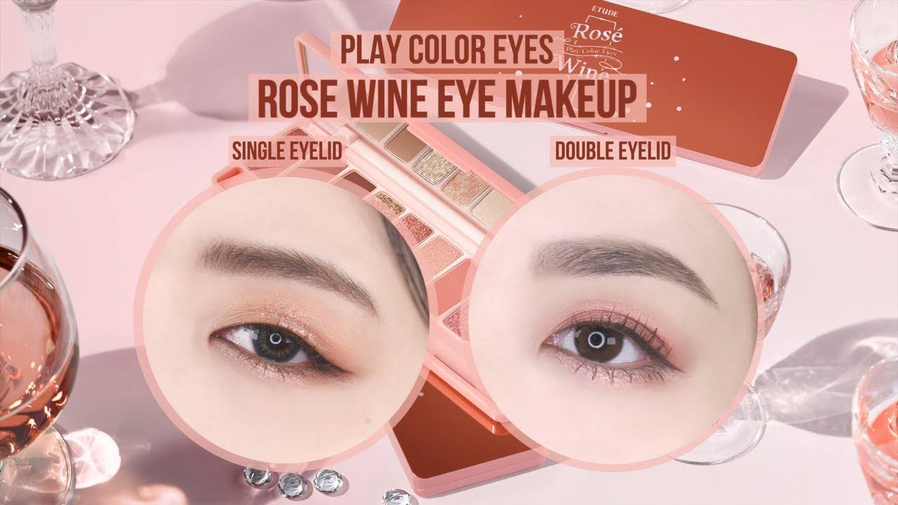 Play Color Eyes Rosé Wine Single/Double Eyelid Eye Makeup