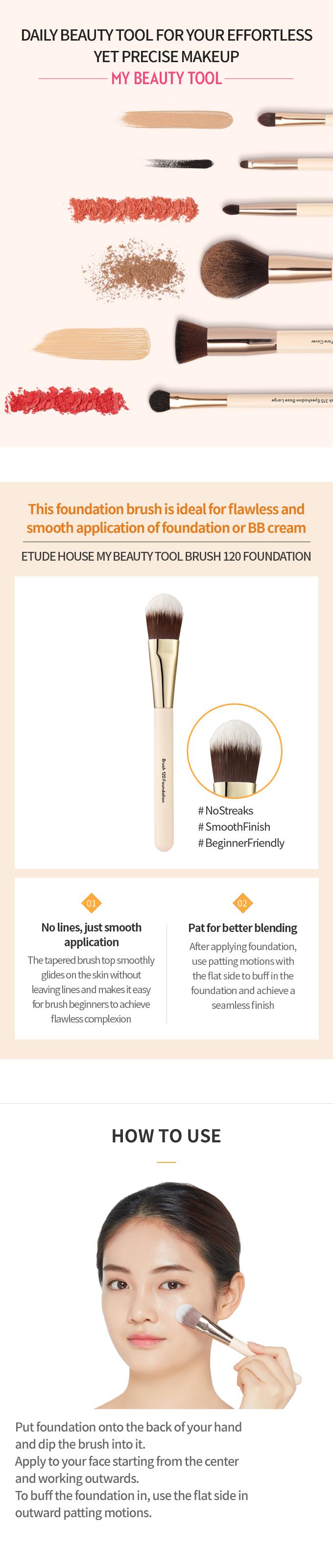 My Beauty Tool Brush 120 Foundation